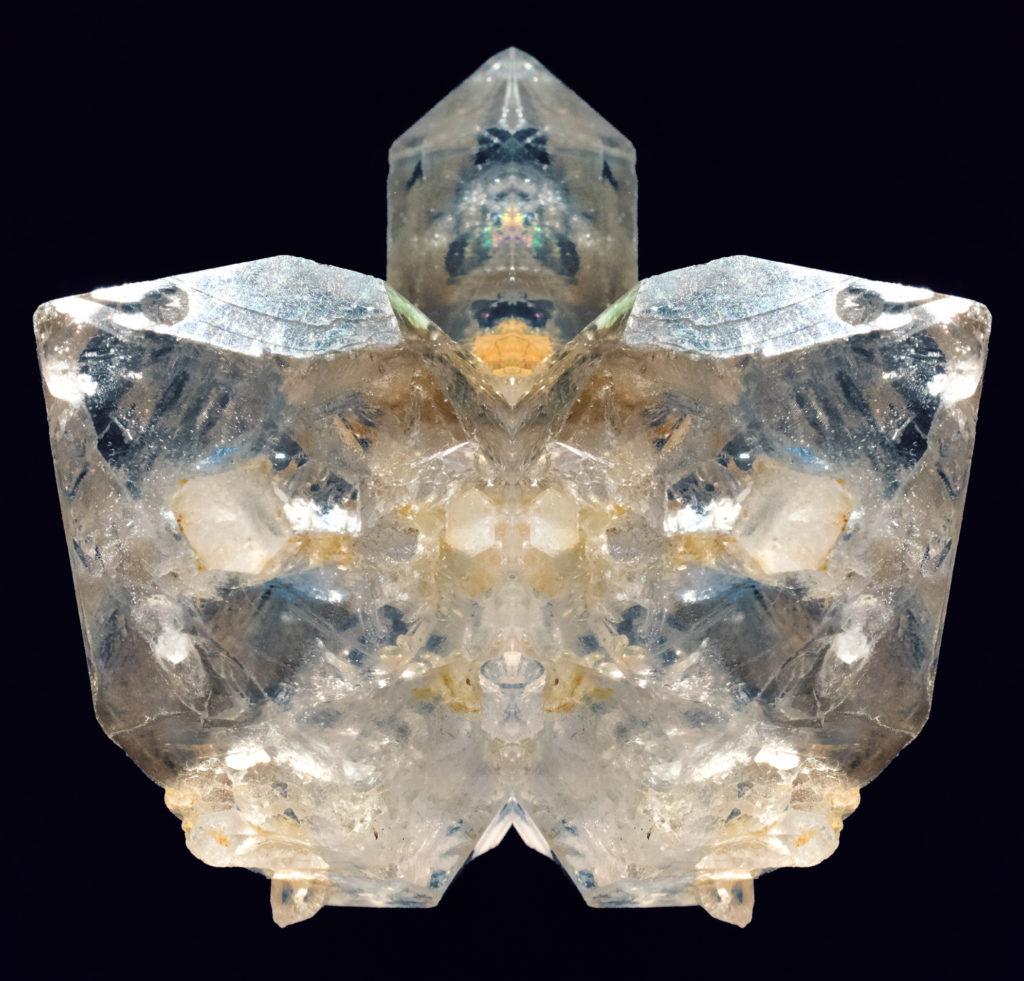 Seated Quartz Crystal Goddess